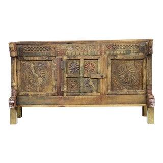 Antique Rustic Damachiya Chakra Cabinet For Sale