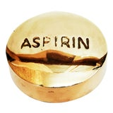 Image of Vintage Brass Aspirin, Pill, Paperweight For Sale