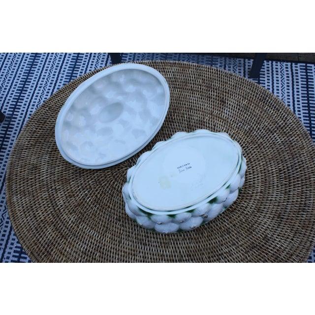 Ceramic Neiman Marcus Italian Garlic Bulb Tureen / Covered Casserole Dish For Sale - Image 7 of 11
