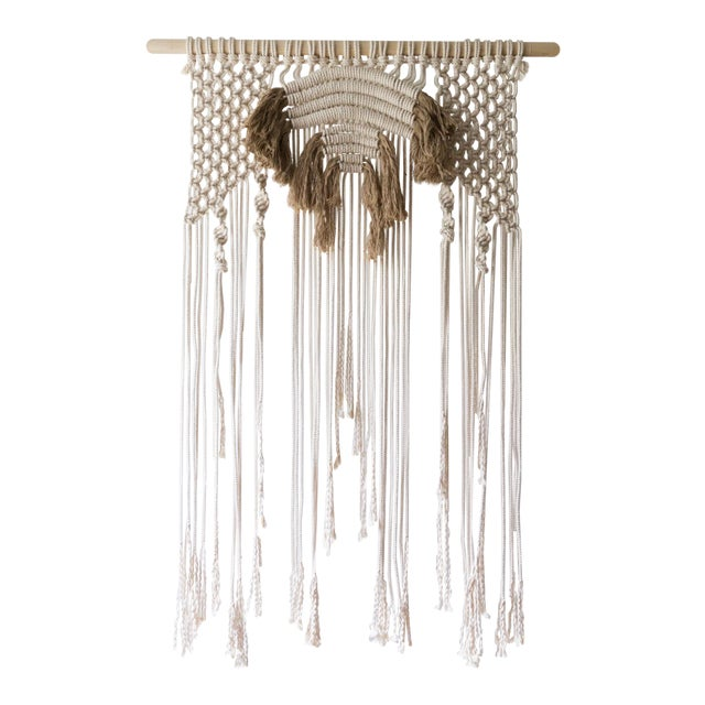 Natural Macrame Wall Hanging - Image 1 of 5