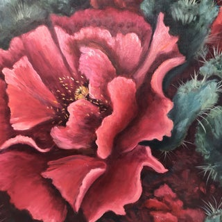 Cactus Flower Acrylic Painting Preview