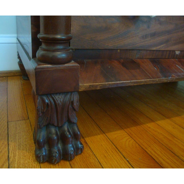 19thC Antique Burl & Walnut Empire Chest of Drawers For Sale In Richmond - Image 6 of 12