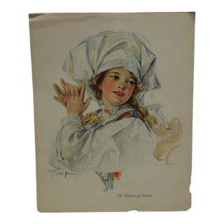 "1913 Antique ""The Klaptanz of Sweden"" Associated Sunday Magazine Print For Sale"