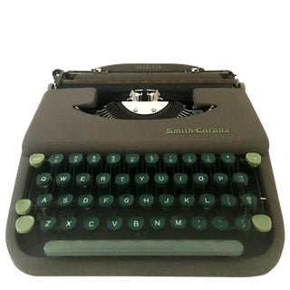 "1940's ""Skywriter"" Portable Typewriter By, L.C. Smith & Corono For Sale"