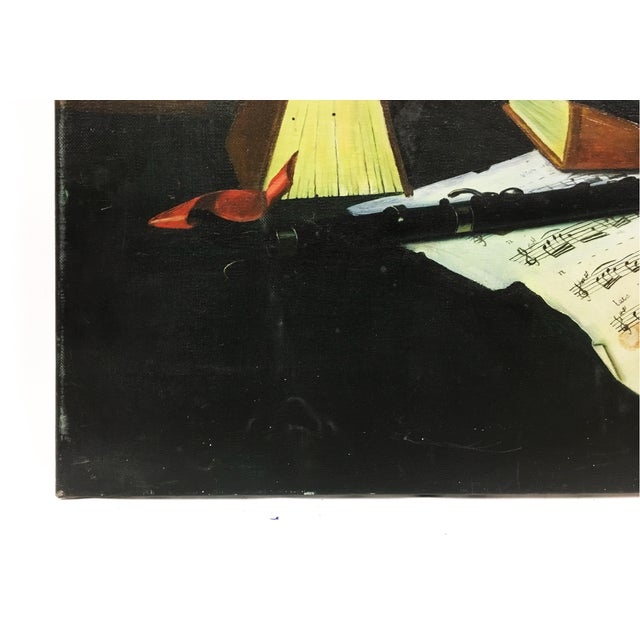 Vintage Collier Style Study Room Items Still Life Painting For Sale In New York - Image 6 of 7