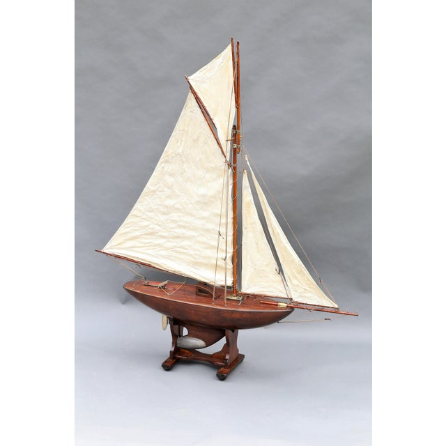 Large Antique English Pond Yacht - Image 2 of 10