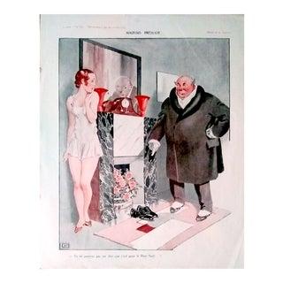 """Georges Léonnec 1926 """"Mauvais Pretexte"""" La Vie Parisienne Print"""