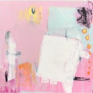 """Razzle Dazzle"" Sarah Trundle Contemporary Abstract Painting For Sale"