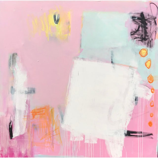 """""""Razzle Dazzle"""" Sarah Trundle Contemporary Abstract Painting For Sale"""