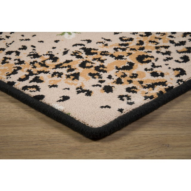 """Stark Studio Rugs Limited Edition - White Leopard Rose Petite - 2'8"""" x 8'3"""" For Sale - Image 4 of 8"""