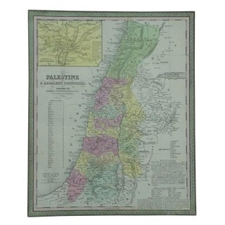 Palestine & Jerusalem Map by Cowperthwait, 1850 For Sale
