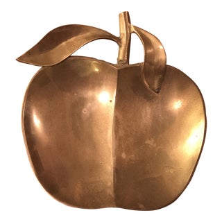 Vintage Brass Apple Tray For Sale