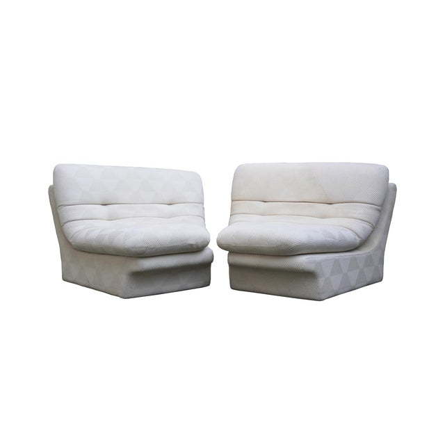 1970s Vladimir Kagan for Preview 2 Piece Modular Sectional Lounge Chairs - a Pair For Sale - Image 11 of 11