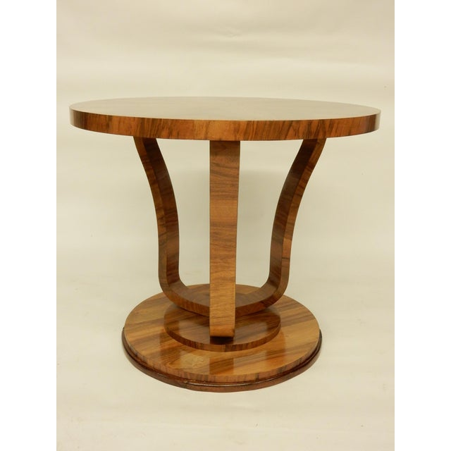 Art Deco Art Deco Round Tulip Shaped Side Table For Sale - Image 3 of 6