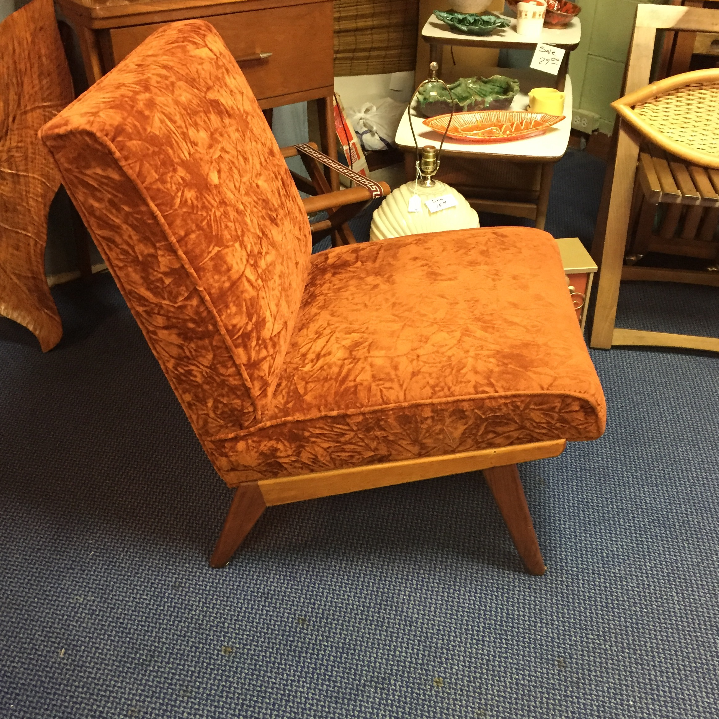 Adrian Pearsall Style Mid Century Slipper Chair   Image 4 Of 6
