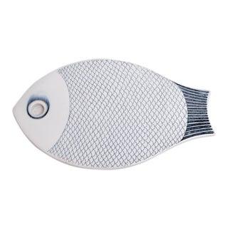 MIdcentury Scandinavian Modern Ceramic Fish Trivet Coaster For Sale