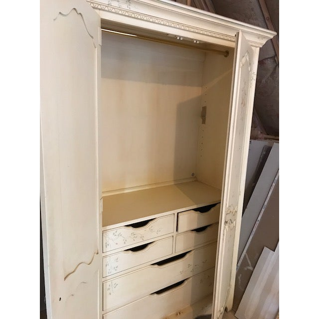 Ethan Allen Painted French Country Armoire For Sale - Image 5 of 5