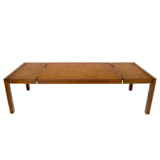 Large Widdicomb Burl Wood Rectangle Dining Table with Two Leaves For Sale