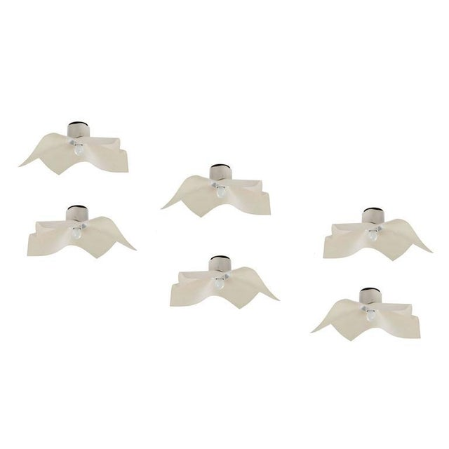 """Six """"AREA"""" Wall or Ceiling Lights by Mario Bellini for Artemide - Image 2 of 8"""