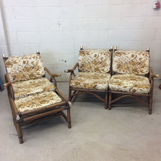 McGuire Style Bamboo Patio Set For Sale - Image 13 of 13