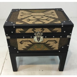 Tribal Aztec Box/Trunk on Stand/End Table Preview