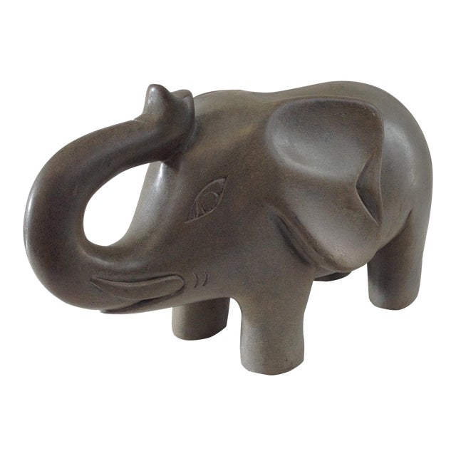 Vintage Stone Carved Elephant Statue - Image 1 of 6