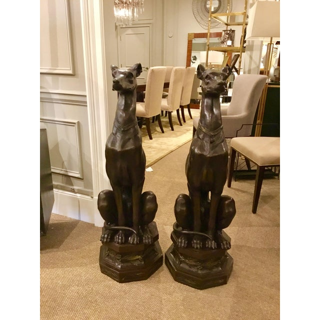 Pair of Bronze Pierre-Jules Mene Bronze Whippet Dogs - Image 2 of 8