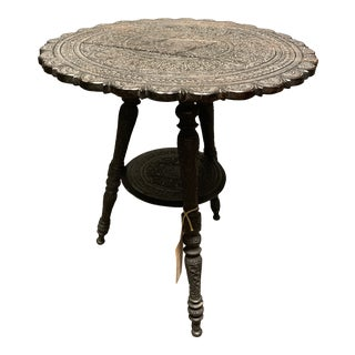 1910s Anglo-Indian Carved Side Table For Sale