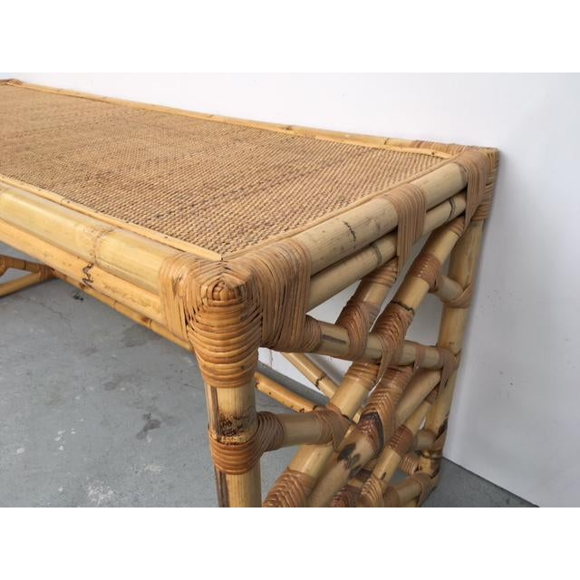 Tropical Chic Bamboo & Rattan Console - Image 4 of 8