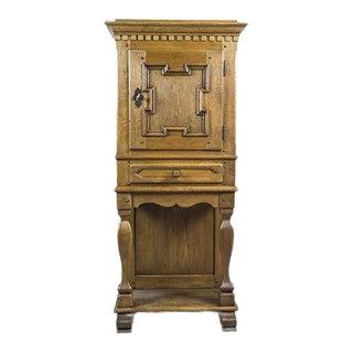 19th-Century Rustic, Oak Cabinet For Sale