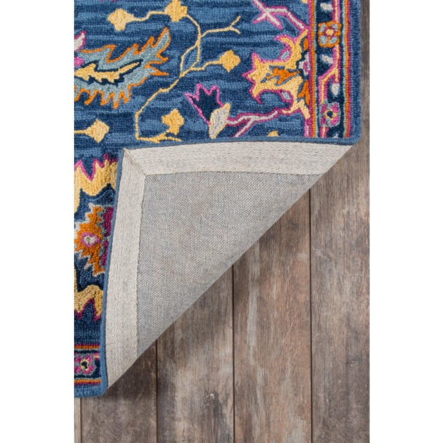 Ibiza Blue Hand Tufted Area Rug 6' X 9' For Sale In Atlanta - Image 6 of 8