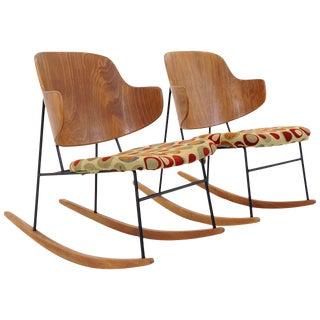 "Pair of Kofod-Larsen ""Penguin"" Rocking Chairs For Sale"