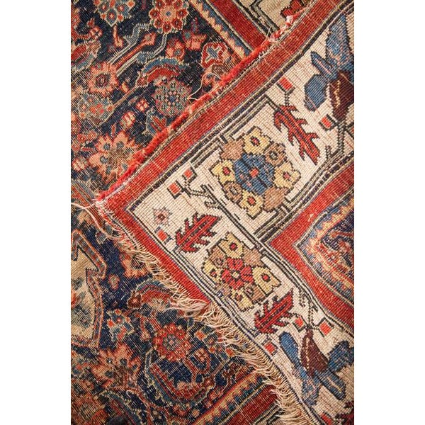 "Antique Bijar Area Rug - 5'4"" X 6'8"" - Image 5 of 10"