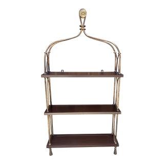 Hollywood Regency Rope & Tassel Hanging Wall Shelf For Sale
