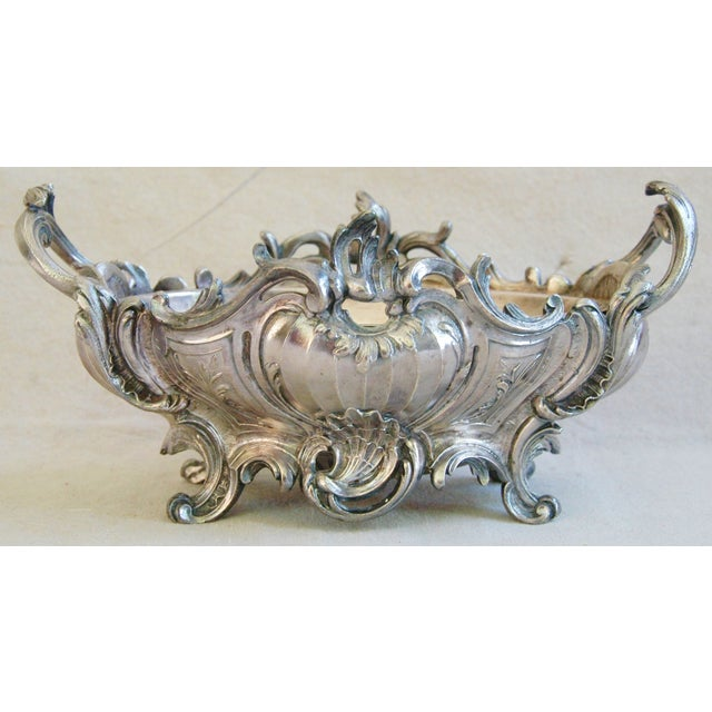 1950s Ornate French Silverplate Jardinière Planter - Image 2 of 11