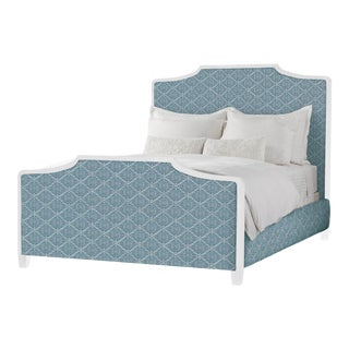 Madeline Bed in Miguel Azure - King For Sale