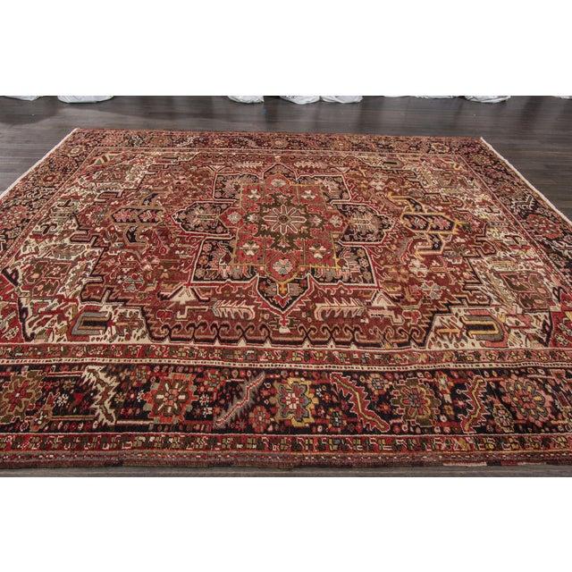 "Apadana - Vintage Persian Heriz Rug, 9'2"" x 11'6"" For Sale - Image 5 of 7"