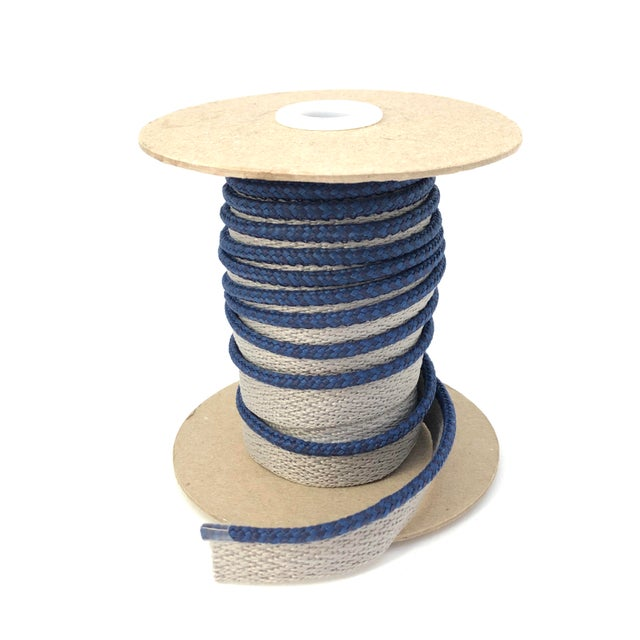 """One, 10.5 yard spool of 1/8"""" Indoor/Outdoor braided cord with flange. Flange is 1/2"""" wide for sewing into upholstery..."""