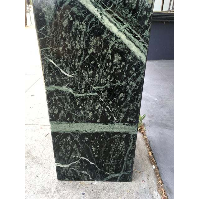Green 1970s Italian Verde Green Marble Side Table For Sale - Image 8 of 10