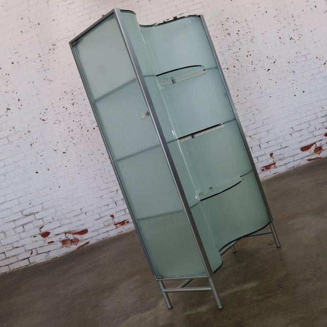 Early 21st Century Modern Dual Sided Glass and Metal Enclosed Display For Sale - Image 5 of 13