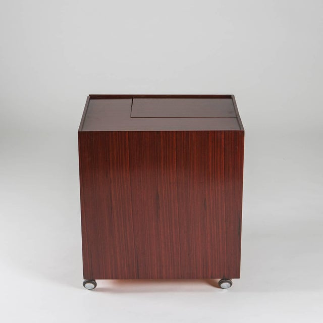 """Rare """"Cubotto"""" (big cube) multi-use piece of furniture by Cini Boeri for Arflex. Compact shape, It can be used as bar cart..."""