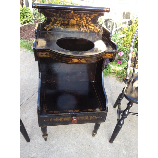 Pre-Civil War Hitchock Wash Stand. This is a museum collectible, the true McCoy. Lovely collection piece to add to your...
