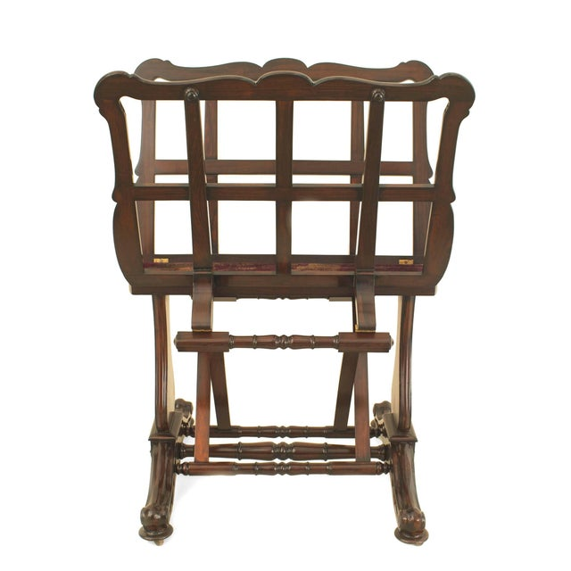 English Victorian mahogany portfolio stand with adjustable sides. Perfect for the entrance way.