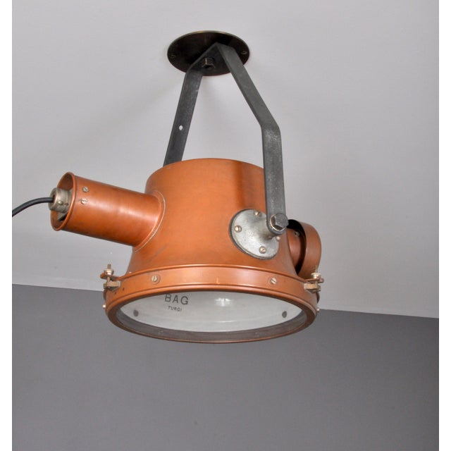 1940s Bag Turgi Copper Lantern, Switzerland 1940s For Sale - Image 5 of 13