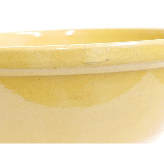 Enormous Yelloware Bowl For Sale - Image 4 of 7