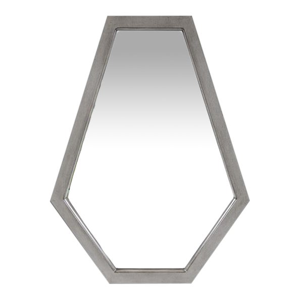 Deacon Silver Mirror from Kenneth Ludwig Chicago For Sale