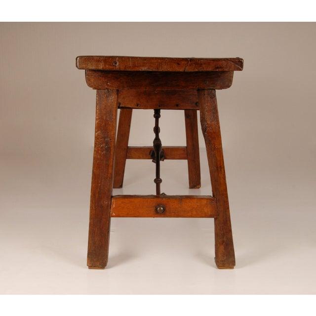 Gothic Antique Renaissance Spanish Console Table For Sale - Image 3 of 12