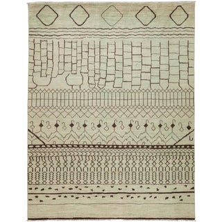 "Vibrance Hand Knotted Area Rug - 8'10"" X 11'6"" For Sale"