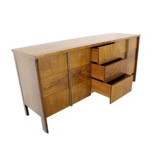 Mid-Century Modern Burl Walnut John Widdicomb Dresser or Credenza For Sale