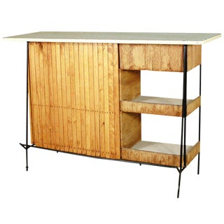 Restored Arthur Umanoff Mid-Century Modern Cocktail Bar For Sale